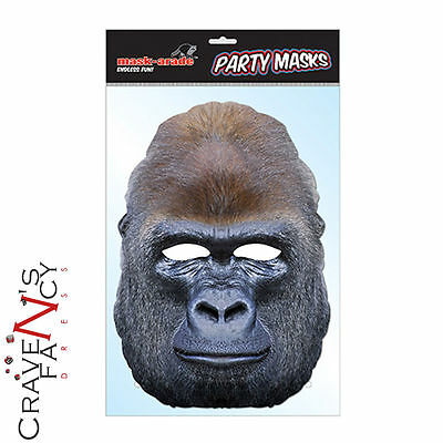 Gorilla Mask Character Impersonation Fancy Dress Animal Face Card Mask-arade New