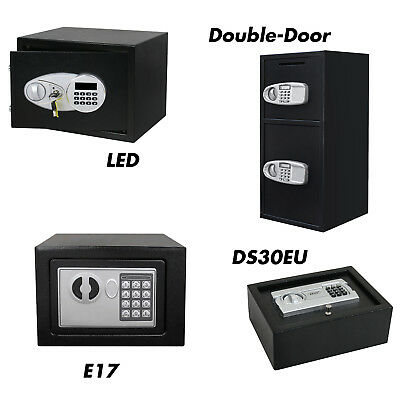 Digital Keypad Home Office Safe Box Electronic Security Cash Steel 0.5 Cubic ft