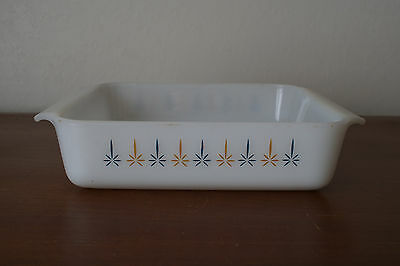 ANCHOR HOCKING Fire King 8 in. square candleglow casserole oven dish # 435