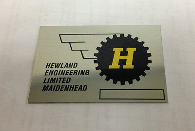 Hewland Transaxle Gearbox Nameplate Id Tag Mk8 Mk9 Nos