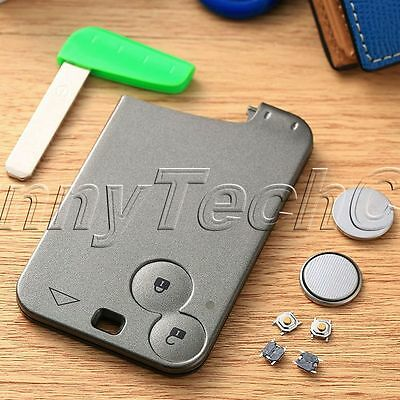 2 Button Car Key Fob Case Shell Entry Remote Smart Repair Kit for Renault Laguna