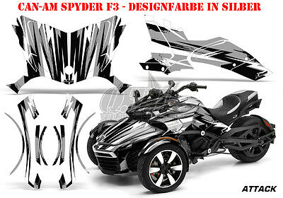 Amr Racing Dekor Graphic Kit Atv Can-Am Spyder Rs, Rss, Rt,rt-S, F3 Attack B