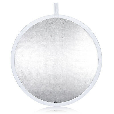 """Neewer 31.5""""/80cm Round Collapsible Reflector Diffuser White/Silver"""