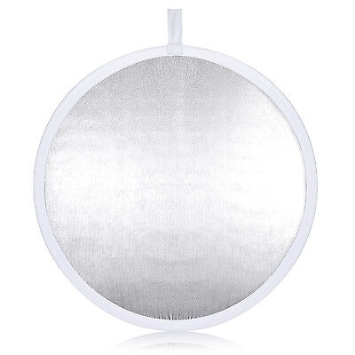 """Neewer Video Photo 31.5"""" Round Collapsible Reflector Diffuser White/Silver"""