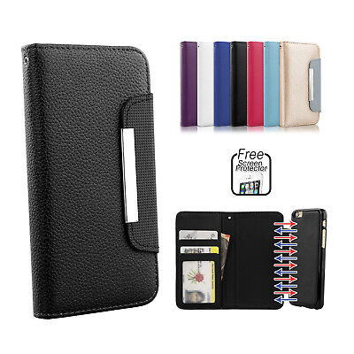 Premium Leather Magnetic Flip Wallet Case Cover for Apple iPhone 5s 5 SE
