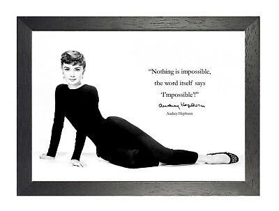 18 Audrey Hepburn Print Motivation Photo Inspirational Quote Vintage Poster
