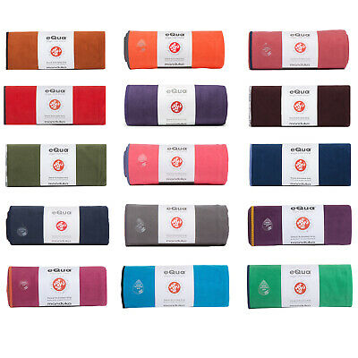 Manduka eQua Yoga Mat Fitness Gym Towel Ultra Plush Super Absorbent - Standard