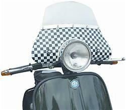 MOD FLYSCREEN BLACK & WHITE CHEQUERED FINISH to fit VESPA PX 125 200 EFL 1984-97
