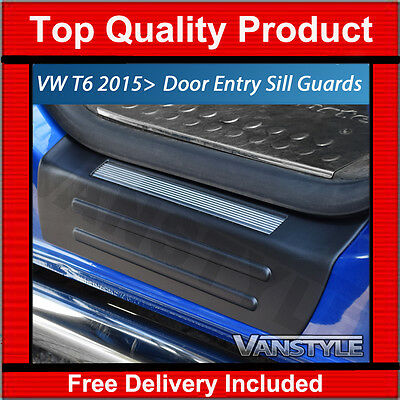 Genuine Vw T6 Transporter 2Pcs Door Entry Guard Sill Protector Kick Plate Cover