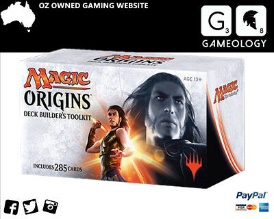 MTG Magic Origins Deck builder's Toolkit  includes 4 boosters Trading Game 285 p