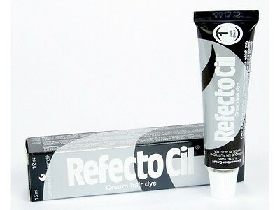 Refectocil Dye 1.0 Pure Black Eyelash and Eyebrow Professional Tint 15ml 1