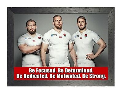 England Rugby 3 Photo Inspirational Motivation Quote Picture Sports Poster