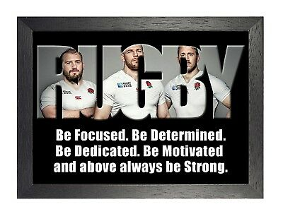 England Rugby 4 Photo Inspirational Motivation Quote Picture Sports Poster