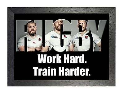 England Rugby 9 Photo Inspirational Motivation Quote Picture Sports Poster