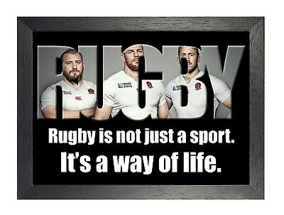 England Rugby 11 Photo Inspirational Motivation Quote Picture Sports Poster