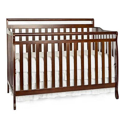 Dream On Me Liberty 5-in-1 Convertible Crib in Espresso Transitional