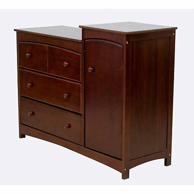 Dream On Me Providence Chest Combo in Espresso Transitional Baby Dresser