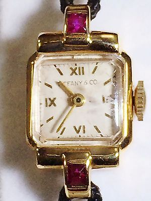 ANTIQUE 14 KARAT YELLOW GOLD and RUBY TIFFANY & CO Ladies WATCH