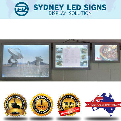LED Slim Light Box / Menu Display Board - A1/A2/A3/A4 Size, magnetic front cover