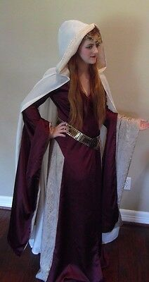 Renaissance medieval bridal cape Tudor or Game of Thrones   Cosplay Costume