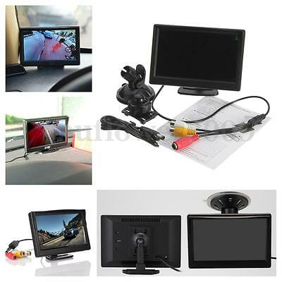 "5"" Inch TFT LCD Car Rear View Monitor + 2 Stand For Reverse Backup Camera  UK"