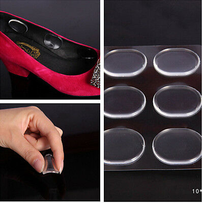 Fine 6pcs/1 set Silicone Foot Wear Free Stickers Round Leather Shoes Brand New