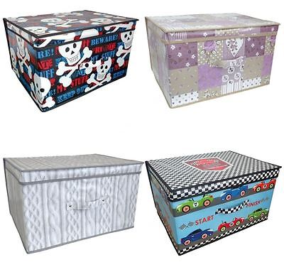 Jumbo Large Clothes Laundry Bedding Toy Storage Box Bag Childrens Kids Chest