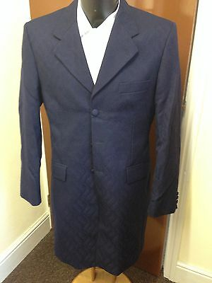 Hector James Navy Frock Coat / Jacket, P.n Wool, Formal Wear