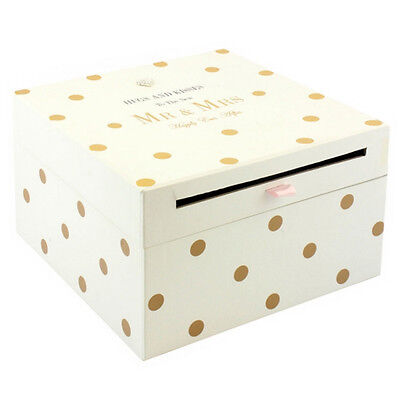 Mr & Mrs Wedding Card Collection Box Gift Accessories Letters Cards Post New