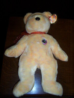 Retired Ty Beanie Buddy Sunny E- Bear Mint With Tags