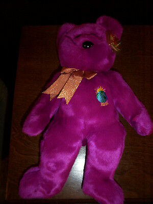 Retired Ty Beanie Buddy Rare Millennium Bear Mint With Tags