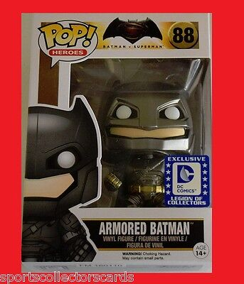 FUNKO POP ARMORED BATMAN EXCLUSIVE DC LEGION OF COLLECTORS #88 vinyl