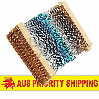 600 Pack 1% Resistors 1/4 Watt 30 values 20 pc each Arduino Raspberry Pi ESP8266