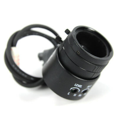 Cosmicar Pentax 6-12mm 1:1.6 CS Mount CCTV Lens with 4 Pin Connector Wire