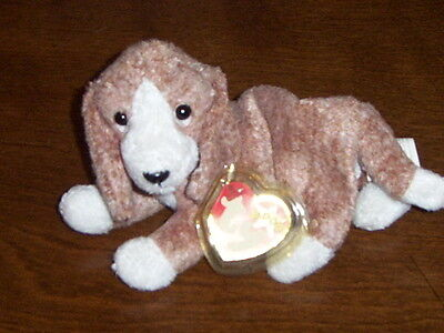Retired Ty Beanie Baby Sniffer The Dog Mint With Tags