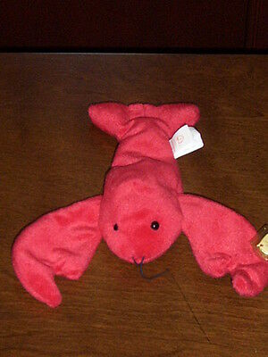 Retired Ty Beanie Baby Pinchers The Lobster Mint With Tags