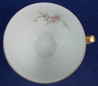 Haviland ROSALINDE France Gold Trim Cup and Saucer Set GREAT CONDITION