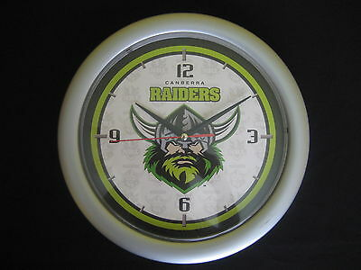 NRL CANBERRA RAIDERS WALL CLOCK - NEW in original packaging