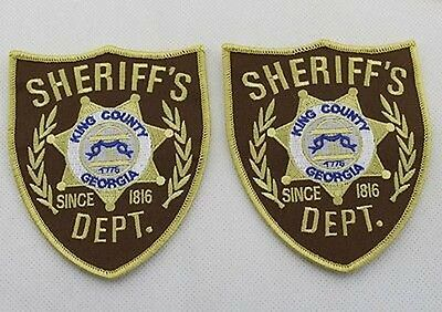 US The Walking Dead King County Sheriff Dept. patches Iron-on-two COSTUME zombie