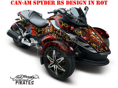 Amr Racing Dekor Kit Atv Can-Am Spyder Rs, Rss, Rt, Rt-S, F3  Ed-Hardy Pirates B