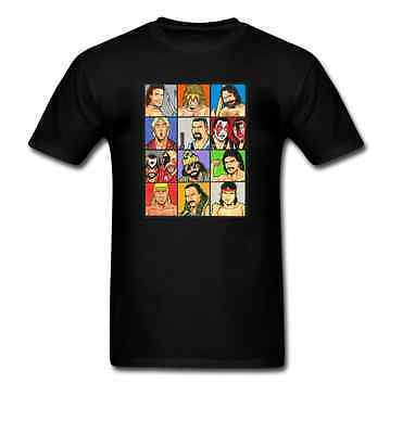 Wrestling Legends Collage TShirt All Sizes & Colours Cotton Retro WWF Ric Flair