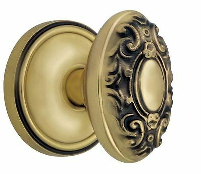 New Home Durable Quality Classic Victorian Antique Brass Interior Passage Knob