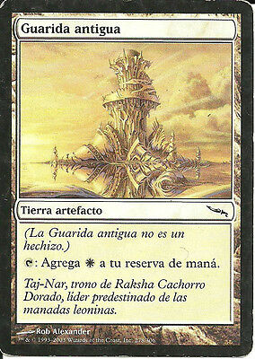 mtg Magic 1x Ancient Den ( Guarida antigua )  Spanish PLAYED