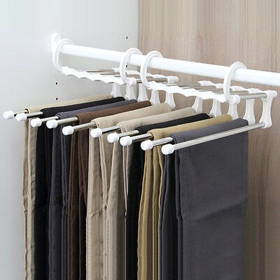 1PC steel telescopic chest multilayer pants receiving aircraft hanging trousers