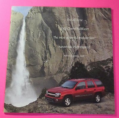 2002 Chevrolet Trailblazer Sales Showroom Brochure  12-Pages..early Release