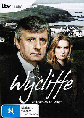 Wycliffe - Complete Collection NEW PAL Series Cult 10-DVD Set Jack Shepherd