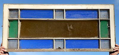 Antique Stained Glass Transom Window Sash Vintage Old Shabby Cottage Chic 321-16