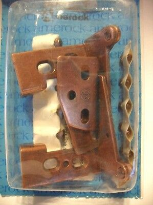"Vintage NOS Copper Plated Steel Cabinet HINGES  3/4"" Thick Overlay Flush Amerock"