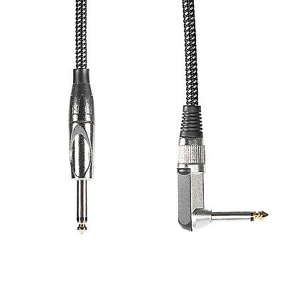 """Neewer 10ft/3M Guitar Instrument Cable with 1/4"""" Straight to Right Angle Plug"""