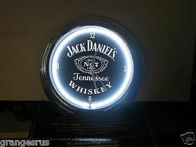 Jack Daniels Tennesse Whisky Neon Clock Boxed Great Present Or Man Cave Display